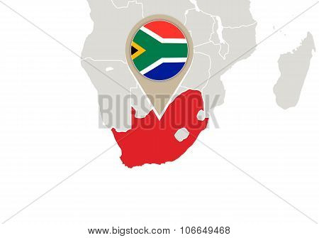 South Africa On World Map