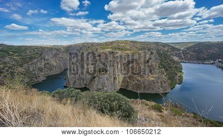 Horse Shoe Bend in Duero River, Portugal