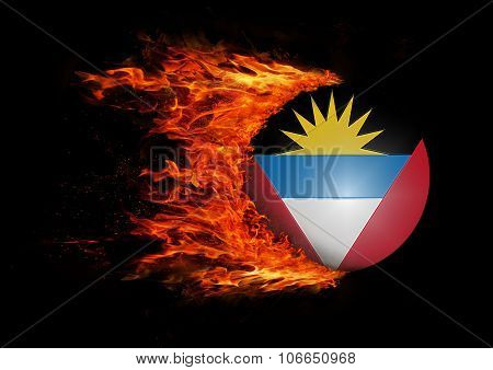 Flag With A Trail Of Fire - Antigua And Barbuda