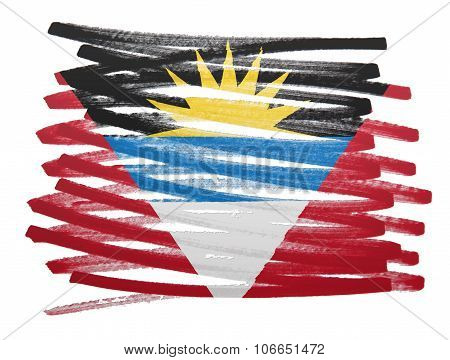 Flag Illustration - Antigua And Barbuda