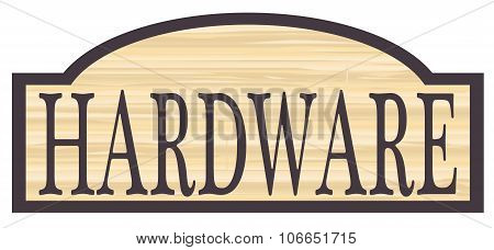Wooden Hardware Store Sign