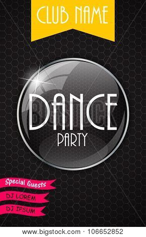 Vertical Dance Party Flyer Background with Place for Your Text.