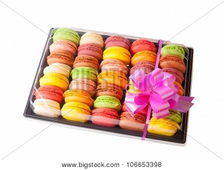 Traditional French Sweets Macaroons With A Bow