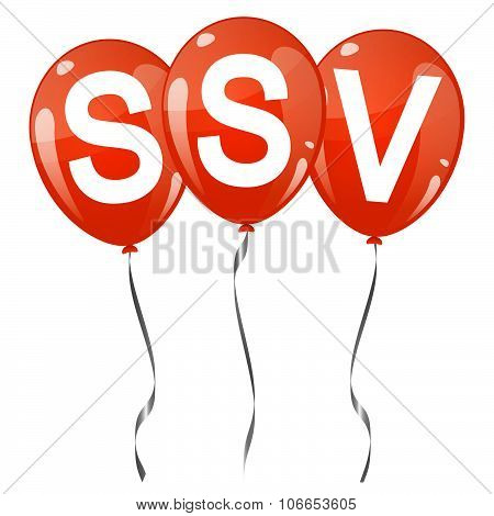 Colored Balloons With Text Ssv