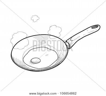 Cooking Fried Egg Doodle