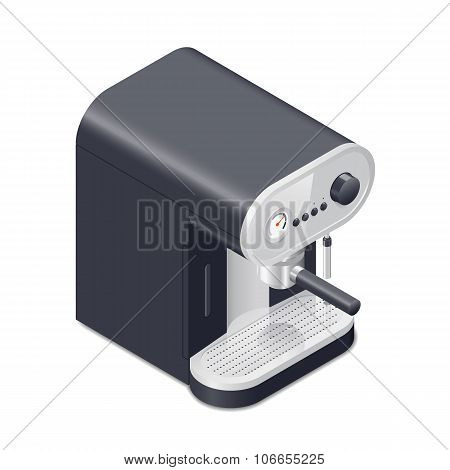 Coffee Maker Isometric Icon