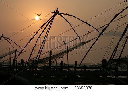 Fishing nets. India.