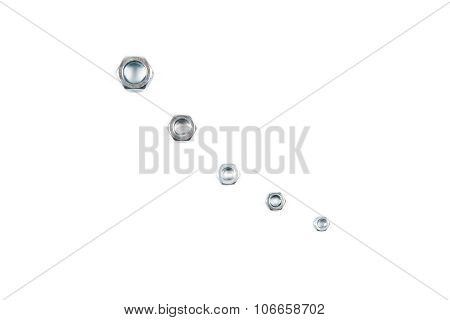 Isolated photo of nuts on white