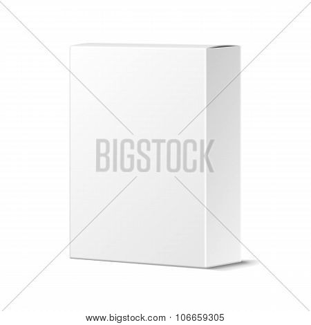 Realistic Blank White Product Package Box Mockup. Container, Pac