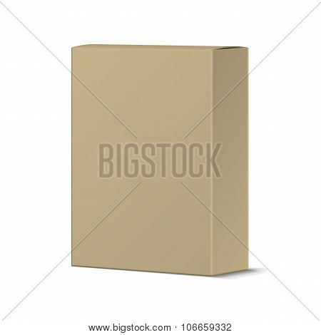 Realistic Recycled Card Product Package Box Mockup. Blank Contai
