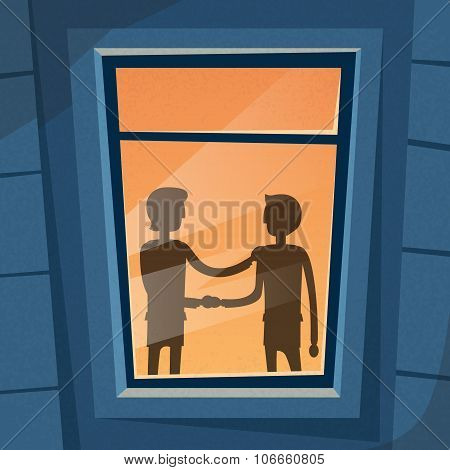 Handshake Business Hands Shake Black Deal Concept