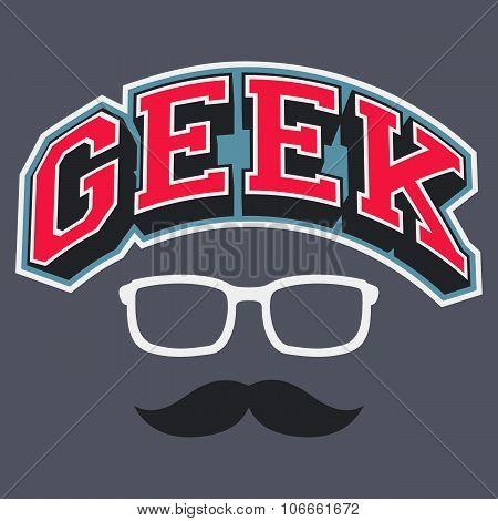 Geek T-shirt Typographic Design