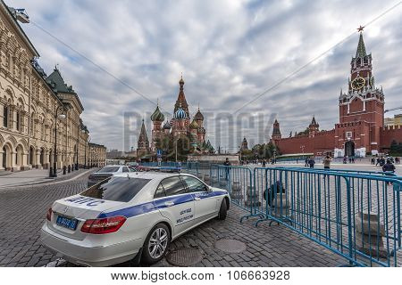 The police car at Red Square