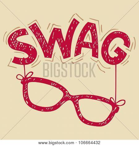 Swag Glasses Typography