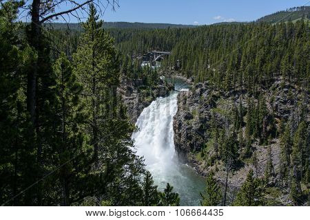 tower falls in yellowstone national park USA