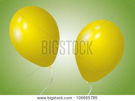 Two Yellow Balloons