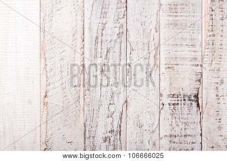 Grunge old white wooden background