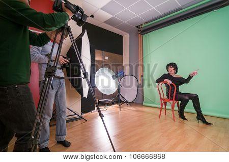 Transgender video shoot backgstage
