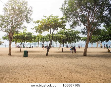 People Enjoying At Repulse Bay Beach.