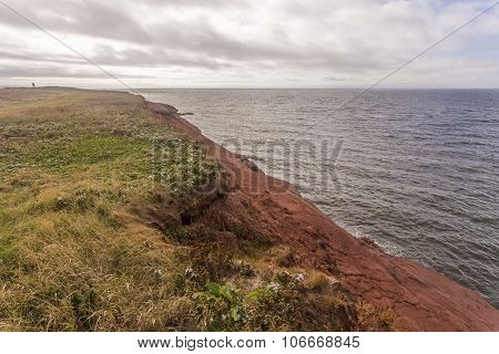 red sandstone coastline, Prince Edward Island