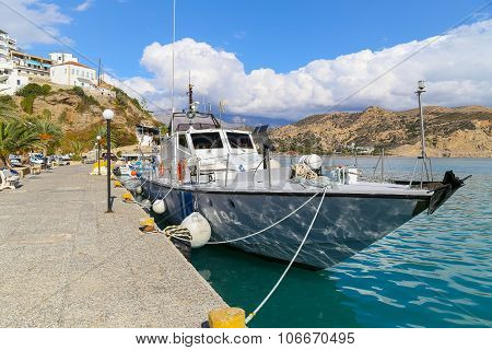 Coastguard Ship In Crete