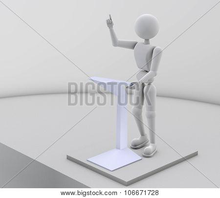 Confident Performance Speaker