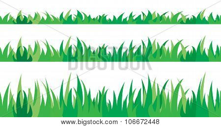 Set of seamless the grass.