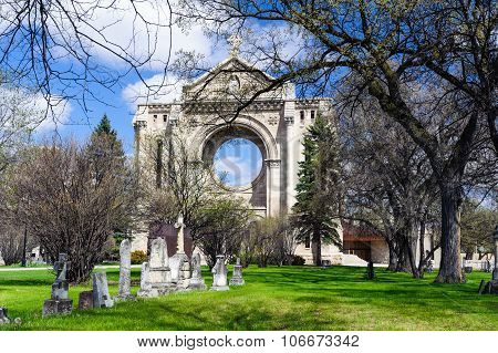 Tombstones And St.boniface Cathedral