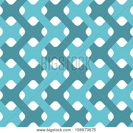 Plexus Tapes Seamless Pattern. Abstract Background Of Weavings. Retro Fabric Ornament.