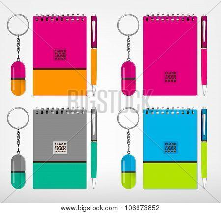 Souvenirs template Vector illustration