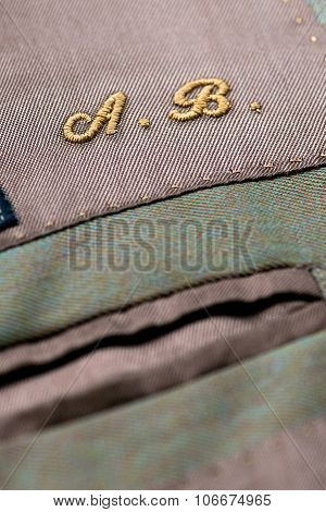 Embroidered Initials On Clothing
