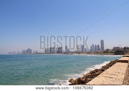 embankment of Tel-Aviv,Israel
