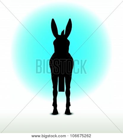 Donkey Silhouette