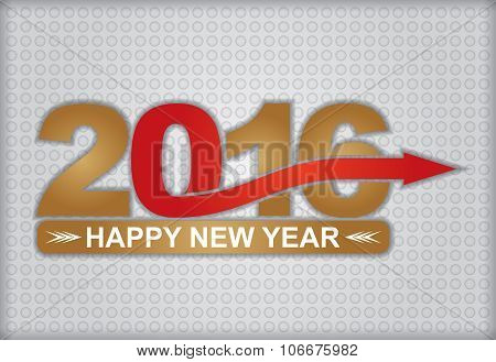 Happy New Year Greeting Card - 2016