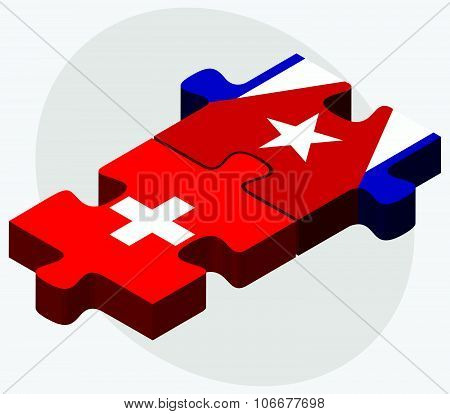 Switzerland And Cuba Flags