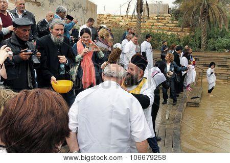 The Baptism In The Jordan River, Israel