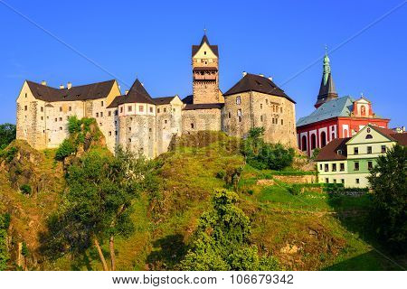 Loket Castle On Sunset, Czech Republic