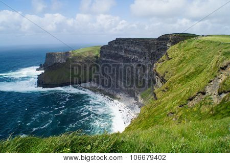 View of cliff of moher against sky