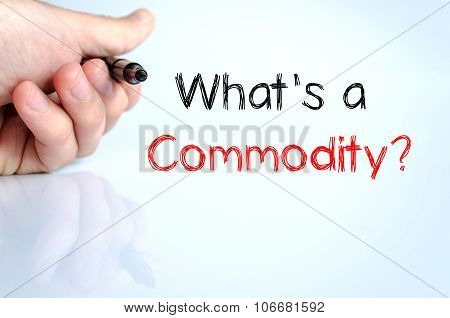 What's Commodity Text Concept