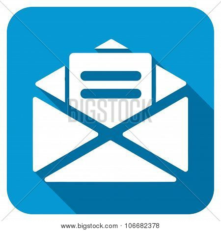 Open Mail Longshadow Flat Icon