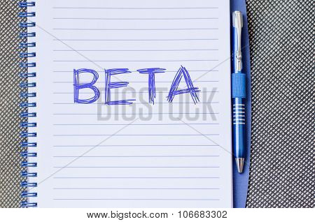 Beta Write On Notebook