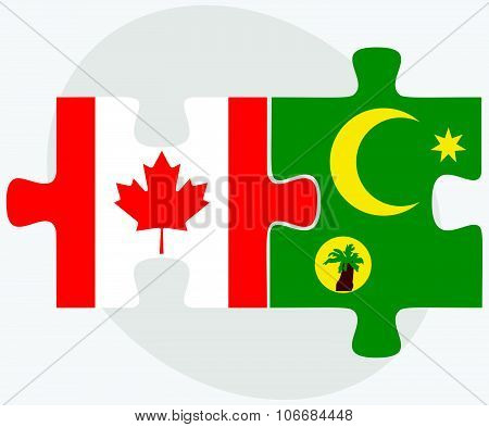 Canada And Cocos (keeling) Islands Flags