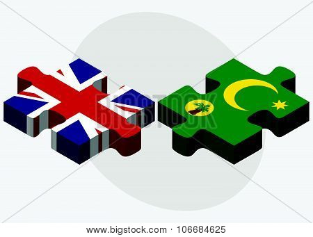 United Kingdom And Cocos (keeling) Islands Flags