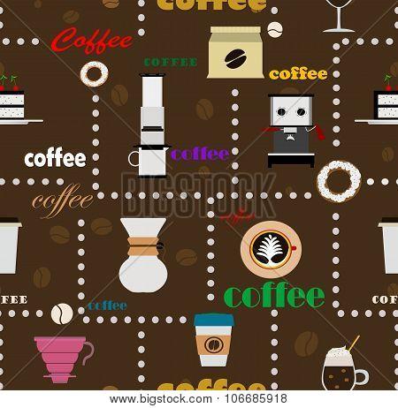 Coffee Seamless Background