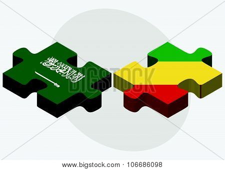 Saudi Arabia And Congo Flags