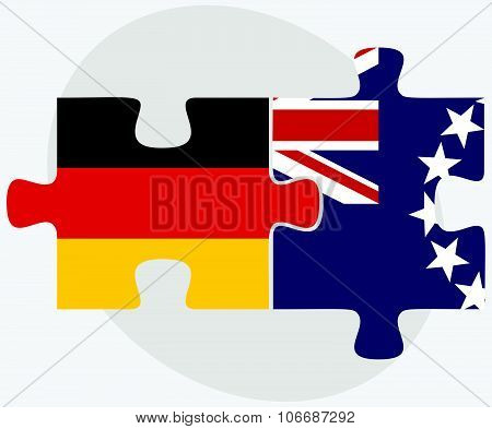 Germany And Cook Islands Flags