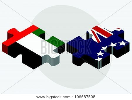 United Arab Emirates And Cook Islands Flags