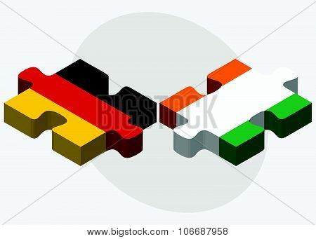 Germany And Cote Divoire Flags