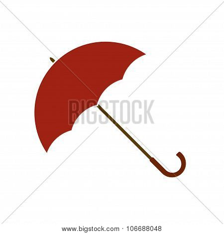 Opened umbrella icon or sign isolated on white background. Vector illustration.