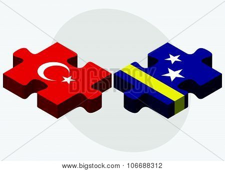 Turkey And Curacao Flags